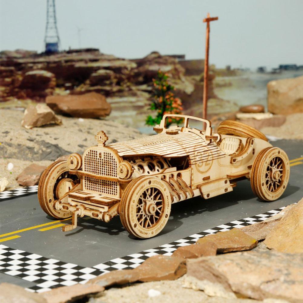 3D деревянная модель пазла, Детские механические игрушки ручной работы, набор моделей для взрослых, локомотивная Экипировка, деревянная Сбо...