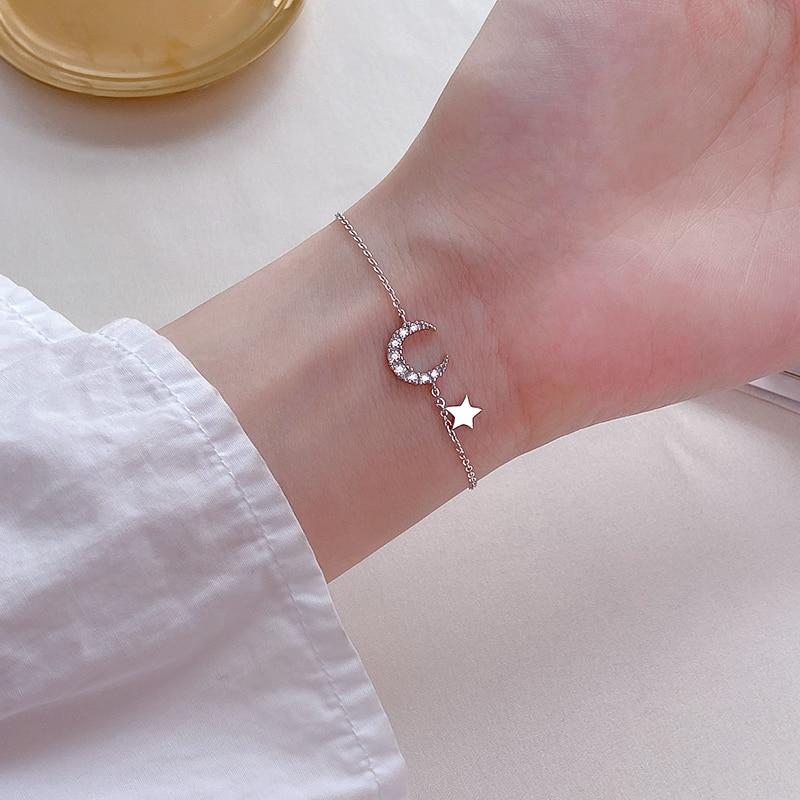 925 Sterling Silver Xingyue Bracelet Women's INS Special-Interest Design Light Luxury High-Grade 202