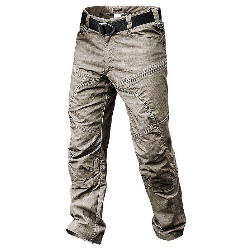 Брюки-карго мужские камуфляжные, тактические штаны в стиле милитари, повседневные тренировочные штаны для бега, уличная одежда, цвет хаки/ч...