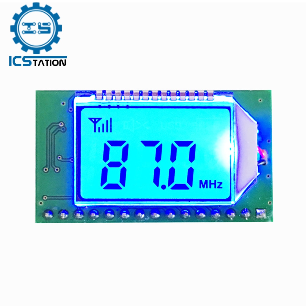 76 108mhz fm stereo radio diy kit wireless fm receiver module frequency modulation electronics soldering practice project DSP PLL Digital Stereo FM Radio Receiver Module 76-108MHz Frequency Modulation Auto Storage Digital Noise Reduction DC 3-5V