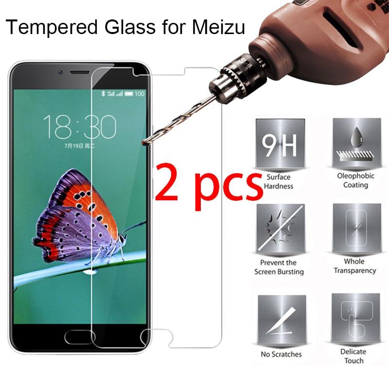 2 uds duro Transparnet de vidrio Protector del Teléfono para Meizu M6 M5 M3 M2 Nota 9H HD Protector de pantalla del teléfono en Meizu M6S M5S M3S