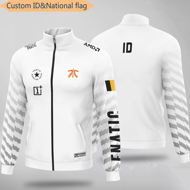 LOL E-الرياضة لاعب الفانيلة فريق Fnatic موحدة هودي للرجال النساء مخصص ID سترة معطف مخصصة اسم بلوزات هوديس