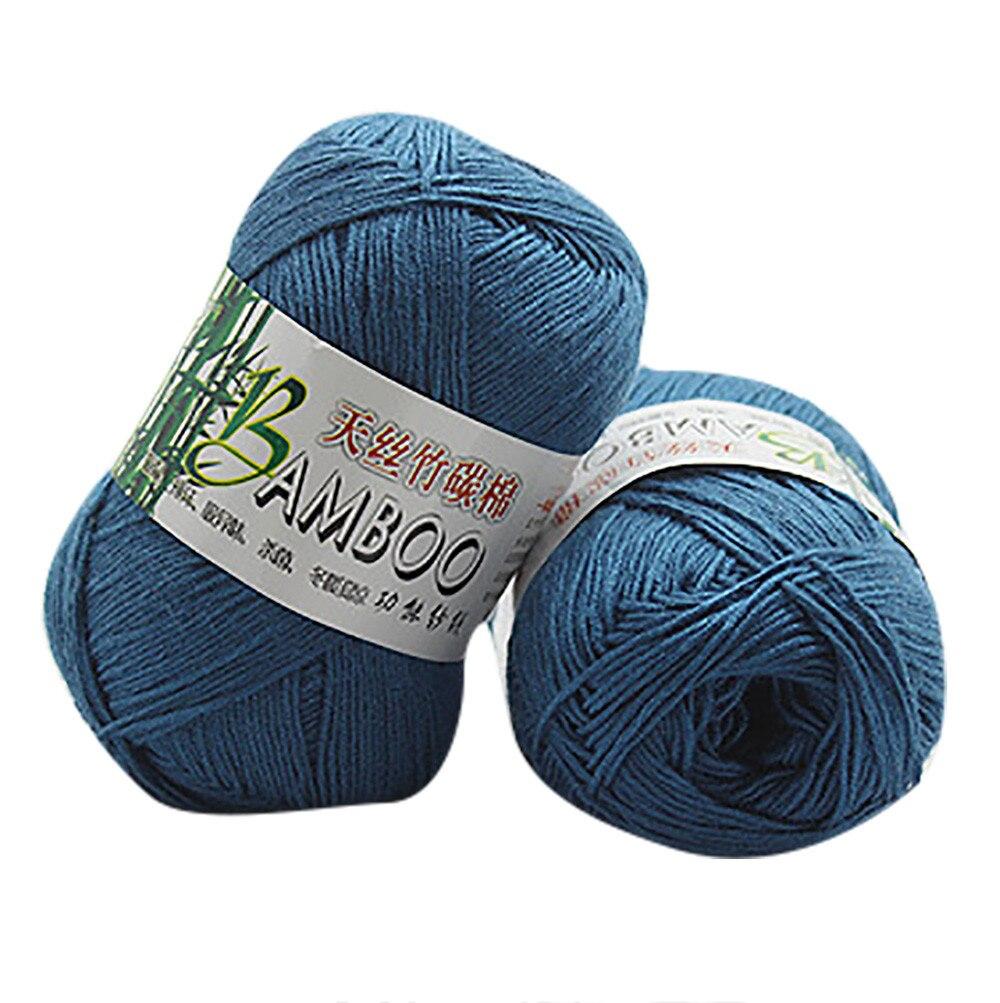 100% tejido de punto de lana de 50g de algodón de bambú suave Natural para tejer lana hecha a mano en casa para mujer @ 35