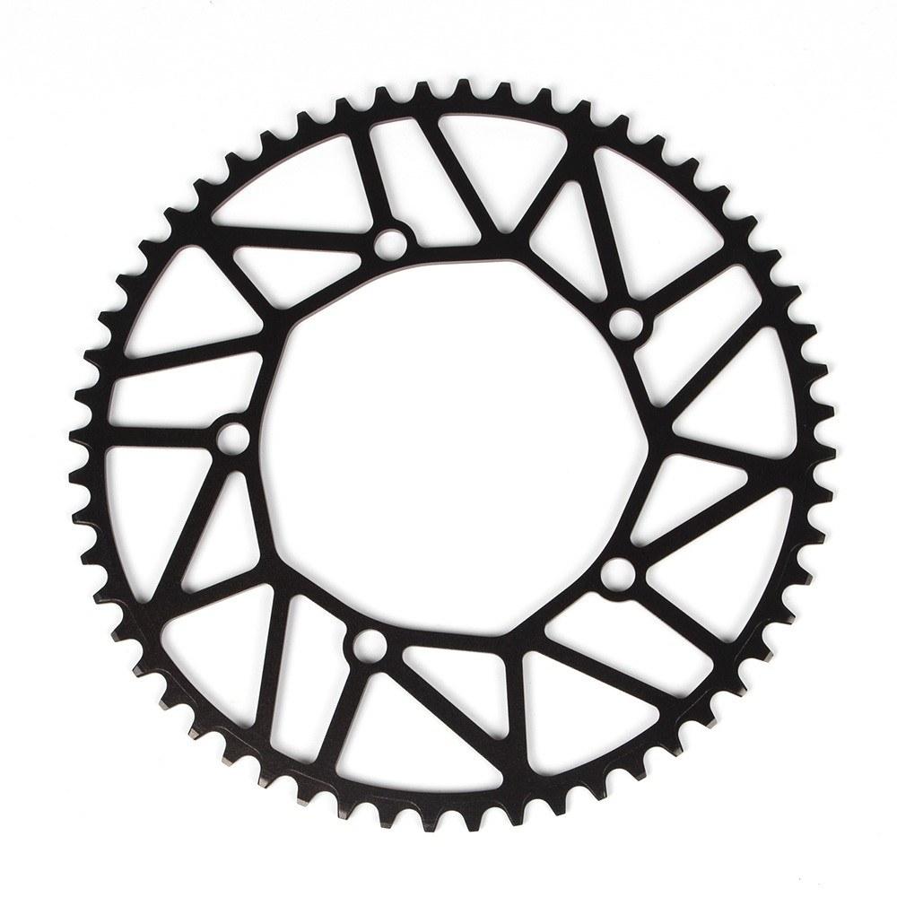 Bicicleta hueco Chainring rueda de manivela plegable bicicleta cigüeñal BCD 130MM 5 agujeros 50 T/52 T/54 T/56 T/58 T