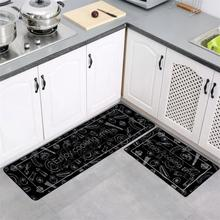 Tapis de cuisine longue tapis de bain chambre absorbant tapis de sol antidérapant paillassons dentrée lavable salon tapis couloir moderne