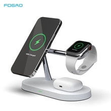 3 in 1 20W Qi Magnetic Wireless Charger Stand For Magsafe iPhone 12 Pro Max Fast Charging Dock For A