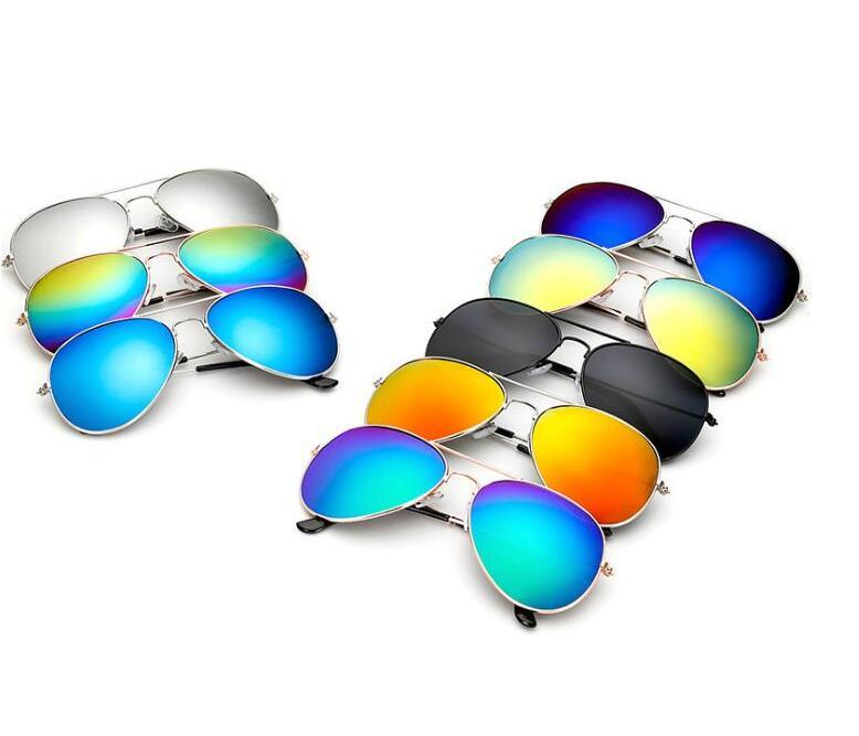 500pcs 26 Colors Adults Piolt Aviator Sunglass Colorful Anti-vertigo UV Men Alloy Sun Glasses Festival Party Gifts#202196