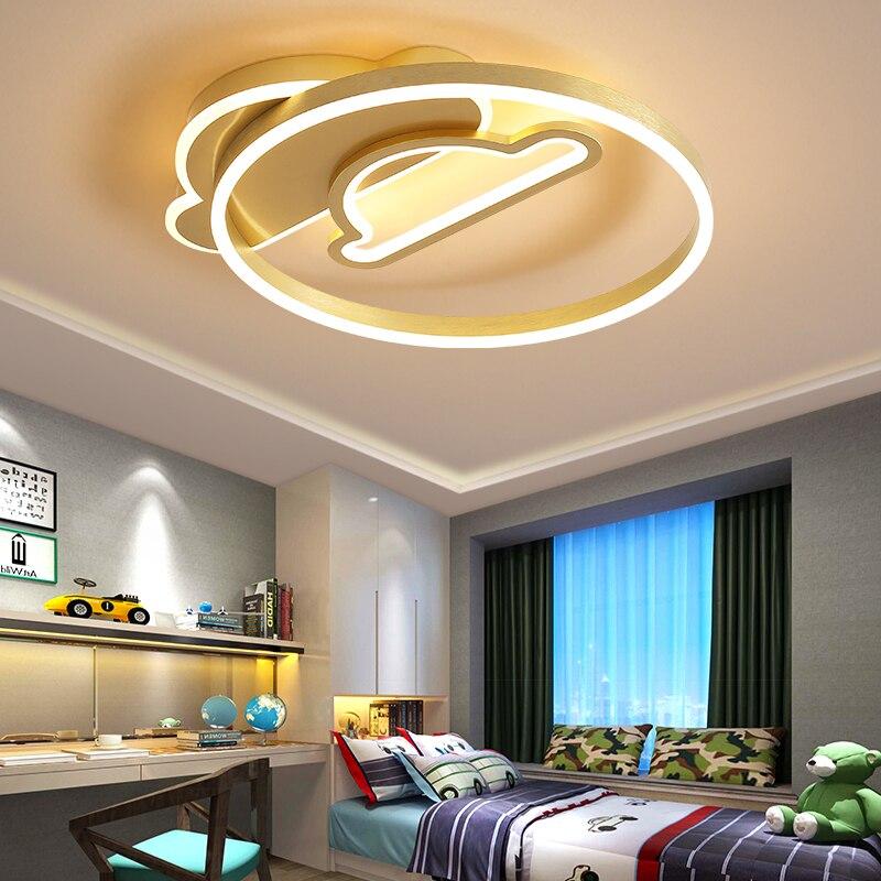 Lámpara led de techo para decoración del hogar, lámparas de iluminación nórdica para salón, dormitorio infantil, lámparas de habitación interior