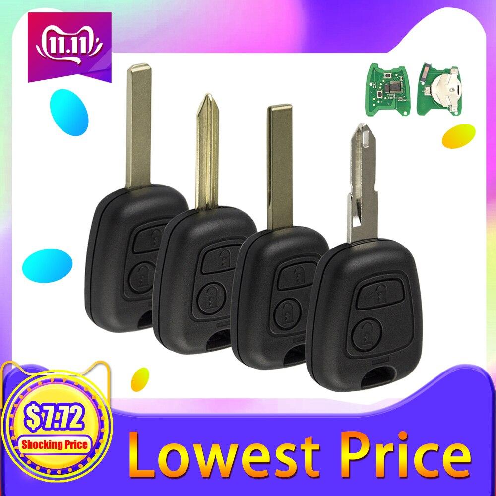 OkeyTech 433 МГц ID46 чип 2 кнопки дистанционного управления ключ для Citroen C3 C4 C5 Xsara Picasso Berlingo SX9 Peugeot 206 207 307 407