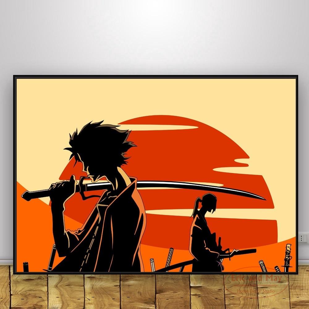 Классические Постеры и принты самурайского хамплоо, Картина на холсте, винтажный постер, декоративный Декор для дома, постер Рисование и каллиграфия      АлиЭкспресс