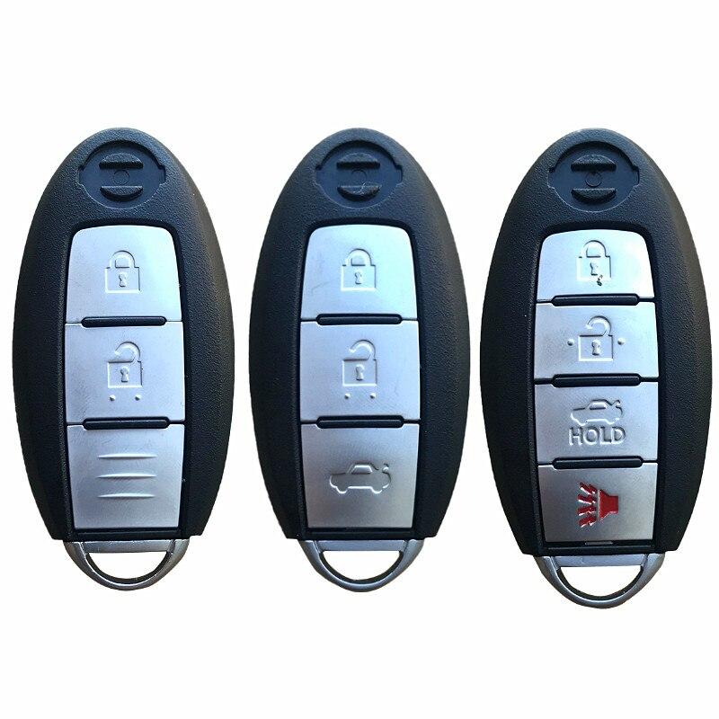 Nuevo Smart Remote Key Case 2 3 4 botones para Nissan Rogue Teana Sentra inversa ALTIMA máxima entrada soleada sin llave