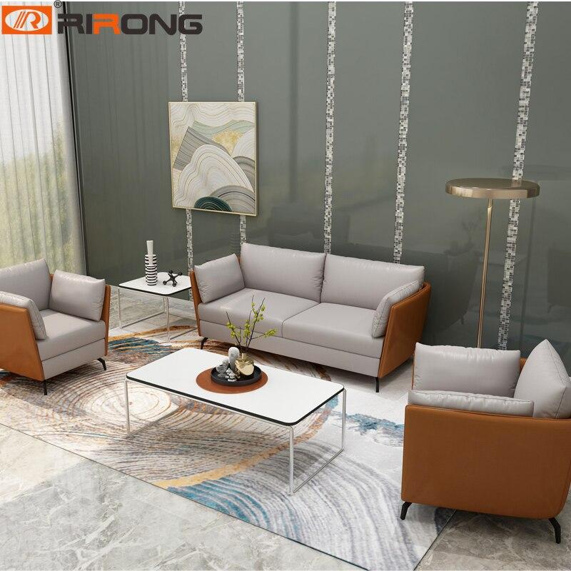 Современная Гостиная кожаный диван домашнего офиса отель дизайн дивана