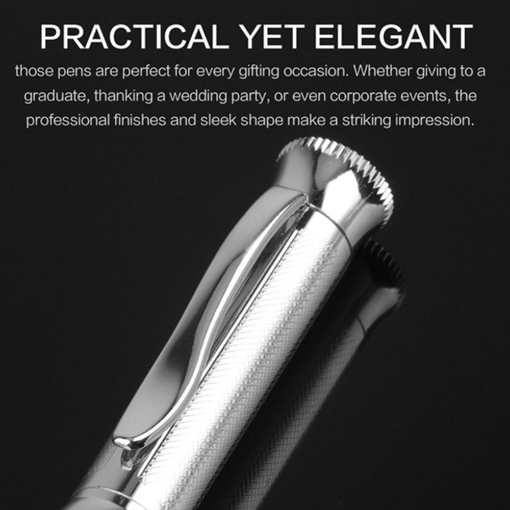 Stylo à bille hélicoïdal en métal, à rayures, rotation en métal, écriture douce, 1.0mm, cadeaux noirs pour tous
