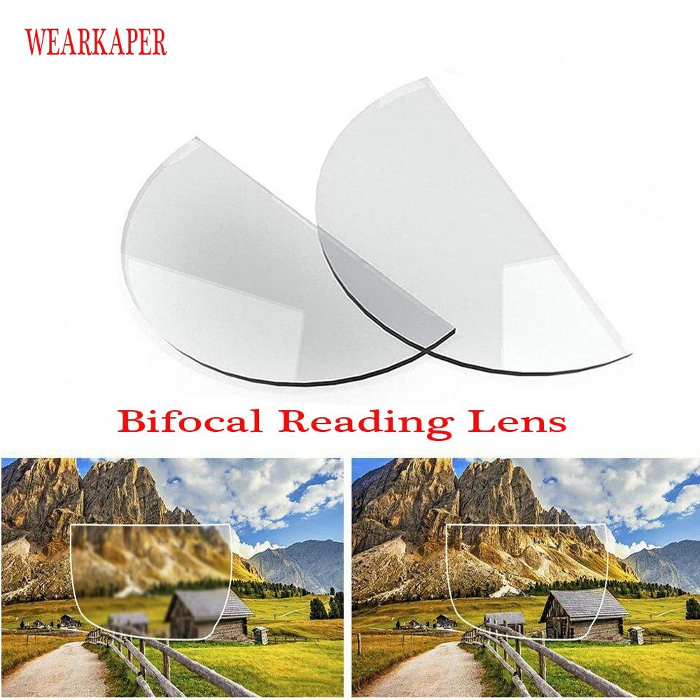 Lente de lectura Bifocal de silicona líquida novedosa, 2 uds., lentes para presbicia con Stick-on, aumento reutilizable, lentes bifocales 1,0 2,0