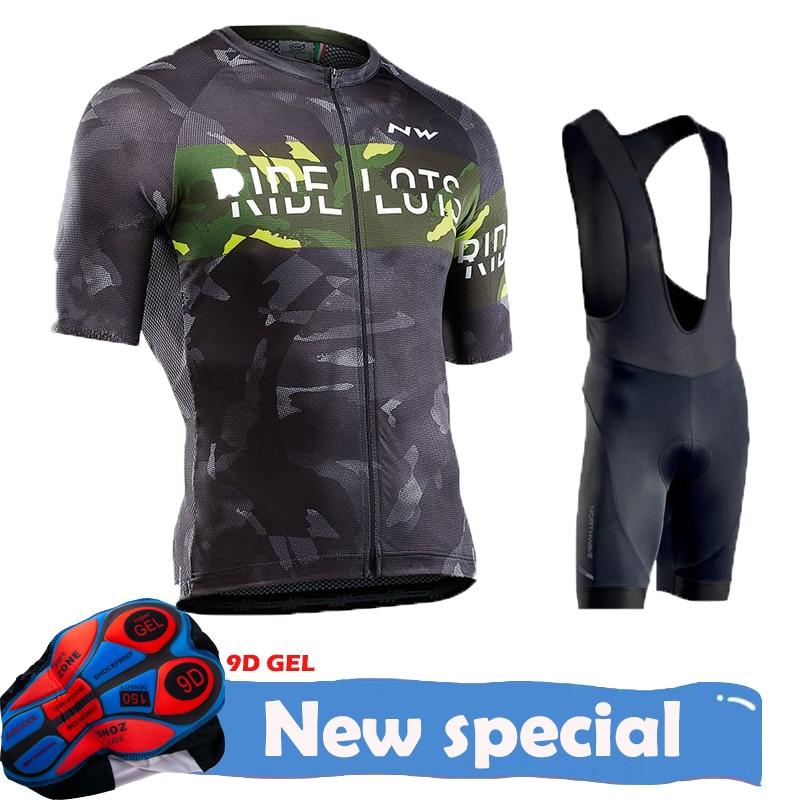 Ef 2020 pro equipe de verão conjunto camisa ciclismo da bicicleta roupas mtb estrada de estrada retro bib shorts respirável 9d almofada gel