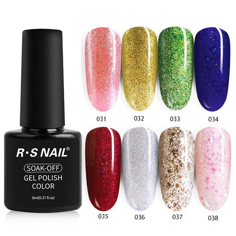 RS NAIL New Gel Varnish UV Color Gel Nail Polish Set 8ml 40 Colors Nude Glitter Nail Art Mainicure Design Hybrid Gellak