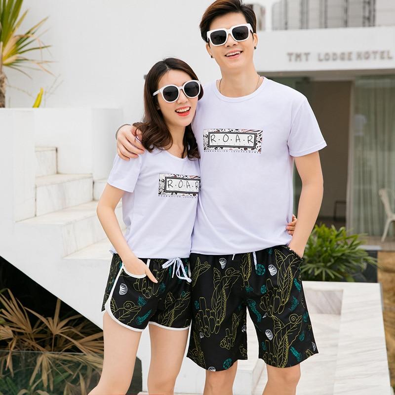 Пляжные шорты для влюбленных, купальный костюм, мужские, женские, мужские пляжные шорты, быстросохнущие шорты для плавания