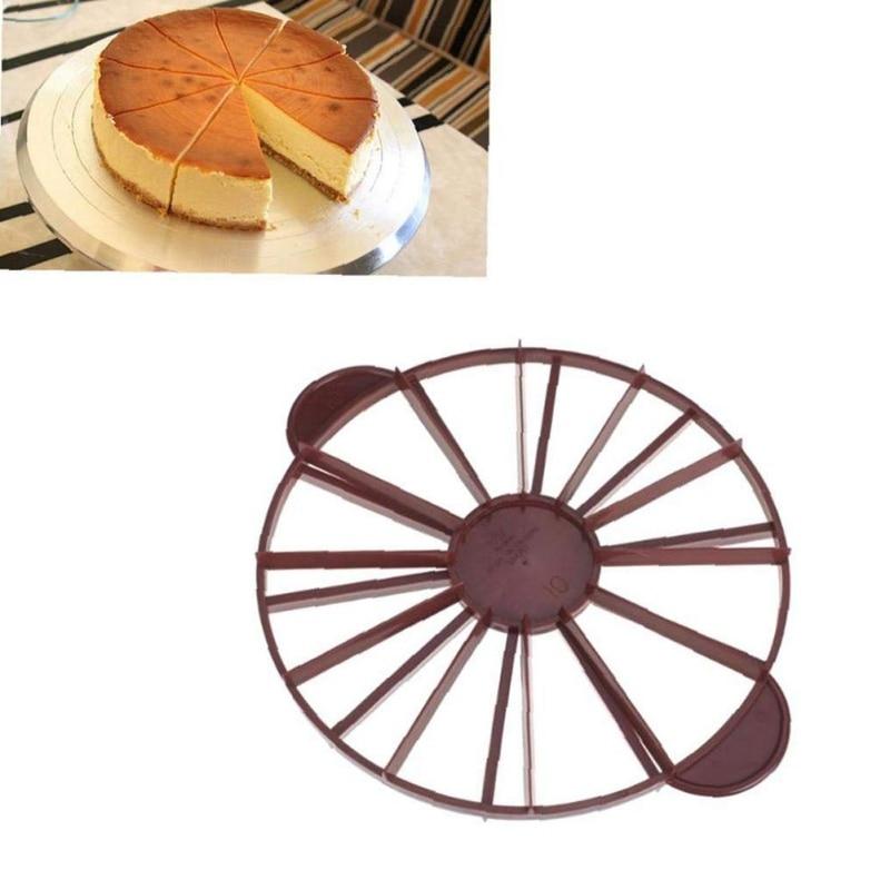 Utensilios de cocina, cortador de pasteles, separador de pan redondo, cortador de Porción Igual, marcador de rebanada, molde para hornear, utensilio doméstico