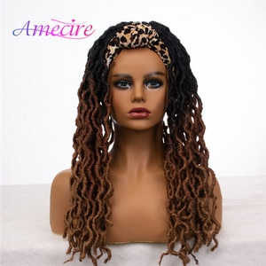 Nu Locs Synthetic Headband Wig Faux Locs Crochet Braids Hair Synthetic Dreadlock Wigs for Black Women