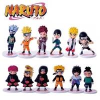 6pcs 10 cm ninja action figures kakashi sakura sasuke itachi obito gaara snake hyuuga shikamaru model doll vinyl pvc gift toys