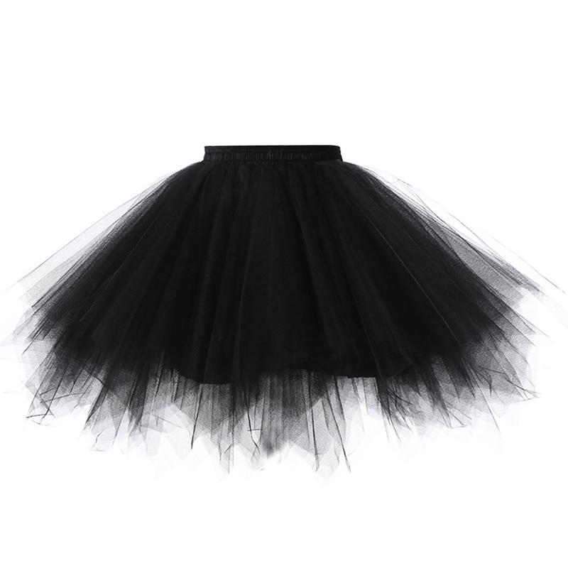 2020 princesa midi fairy tule saia plissado dança tutu saias das mulheres lolita petticoat jupe tule femme festa inchado saias adulto