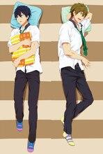 Anime COOL gratuit! Nanase Haruka & Tachibana Makoto BL taie doreiller étreinte taie doreiller Otaku Dakimakura housse de taie doreiller