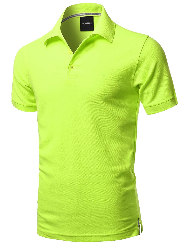 2020 Mens Solid Short Sleeves Basic Premium Quality Side Slit Polo Shirt Batik  Beach Style  Cotton