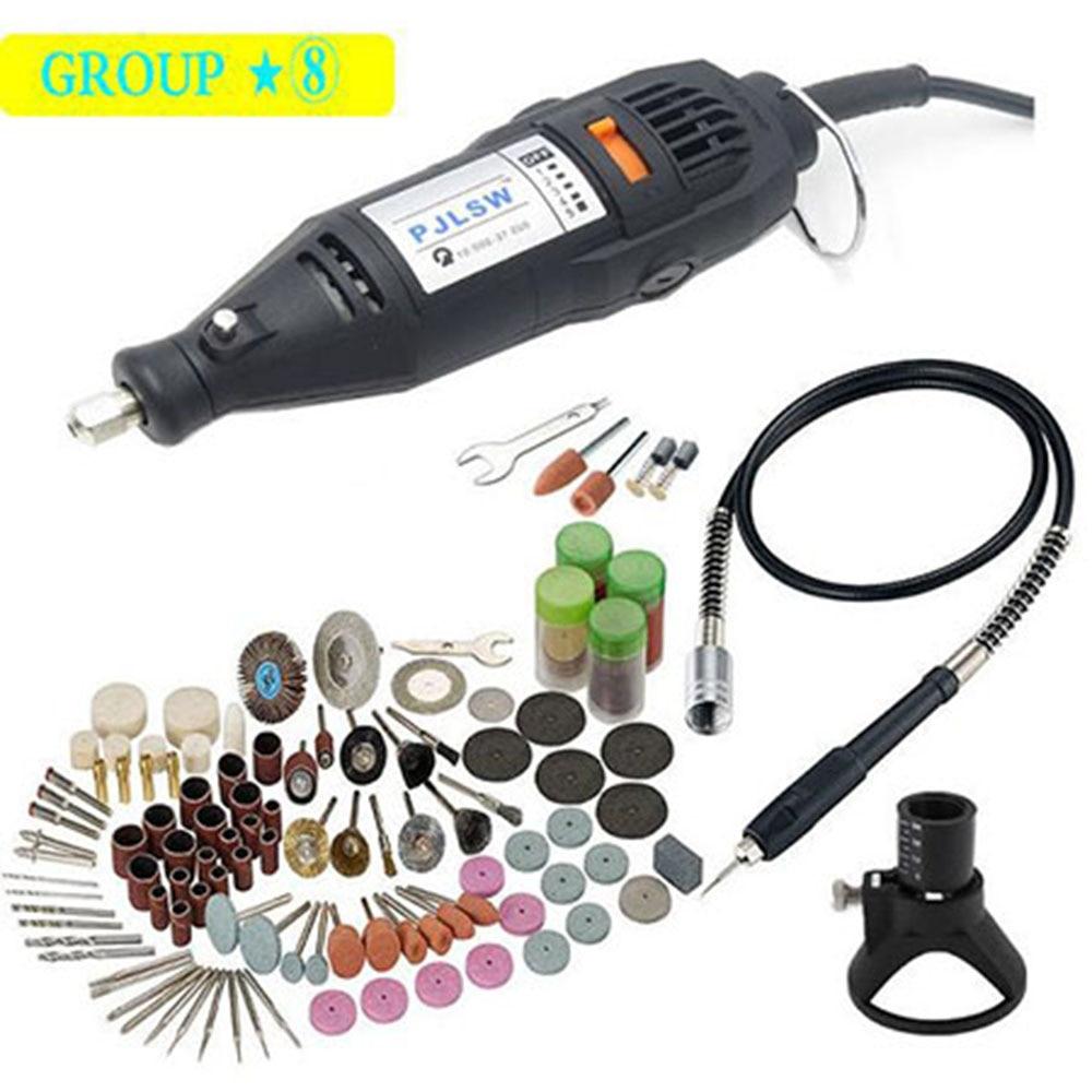 PJLSW Electric Drill Dremel Grinder Engraving Pen Grinder Mini Drill Electric Rotary Tool Grinding Machine Dremel Accessories