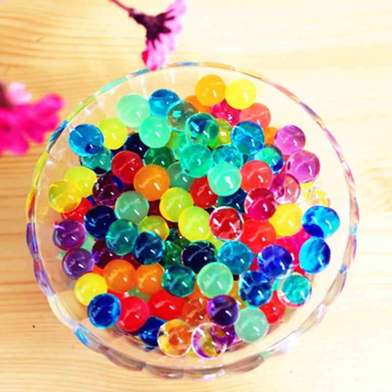 100 teile/los Kristall Boden Perle Form Weiche Wasser Perlen Schlamm Wachsen Magie Jelly Balls Party Geschenk Ornament Pflanze Pflegen Dekoration