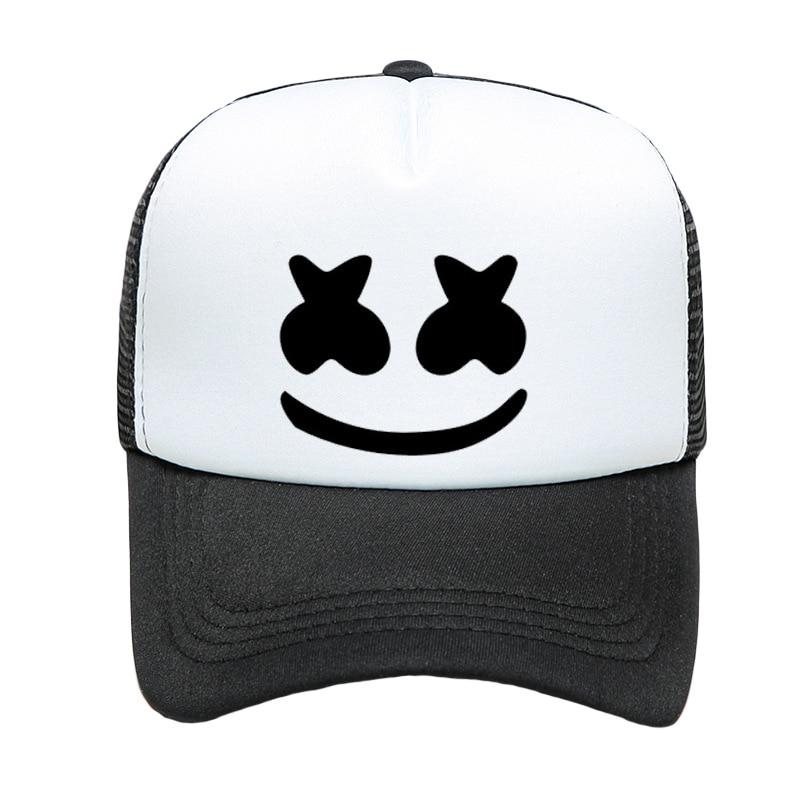 New Baseball Hat Marshmallow DJ Cap Women And Men Solid Color Fashion Visor Breathable Mesh Summer Adjustable Hip Hop Hat TG0202