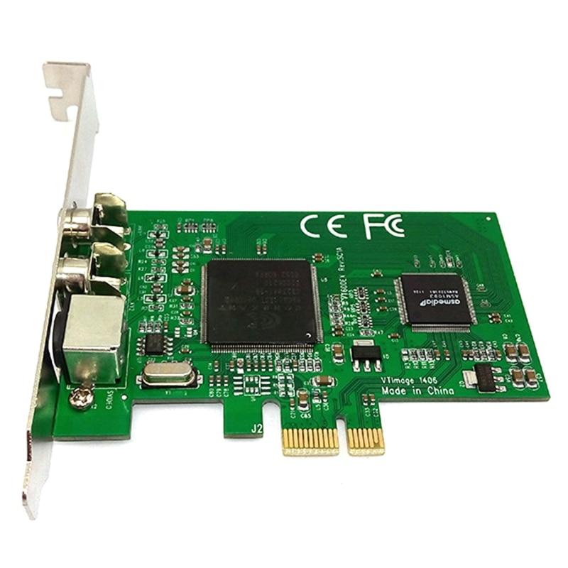 بطاقة التقاط PCI-E إلى AV CX23881 ، رقاقة مراقبة HD ، بطاقة التقاط الفيديو لاجتماعات الفيديو التعليمية