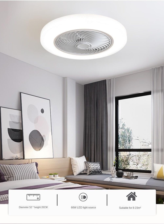 52cm Air Unsichtbar Fans Lichter Smart Decke Fan Mit Lampe Fernbedienung Schlafzimmer Decor Ventilator Lampe Klingen Versenkbare Silen