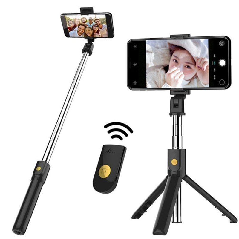 3 in 1 Wireless Bluetooth Selfie Stick for iphone/Android Foldable Handheld Monopod Shutter Remote Extendable Mini Tripod