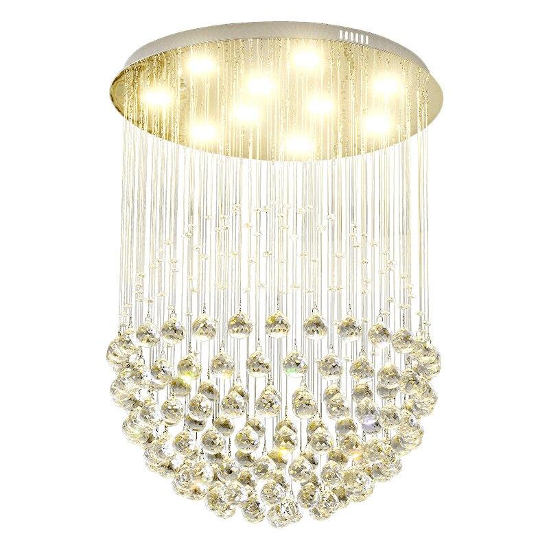الثريات الفاخرة المعاصرة لغرفة الطعام الدافئة رومانسية فندق ديكور مطعم تركيب المصابيح كرة بلورية مستديرة Hanglamp