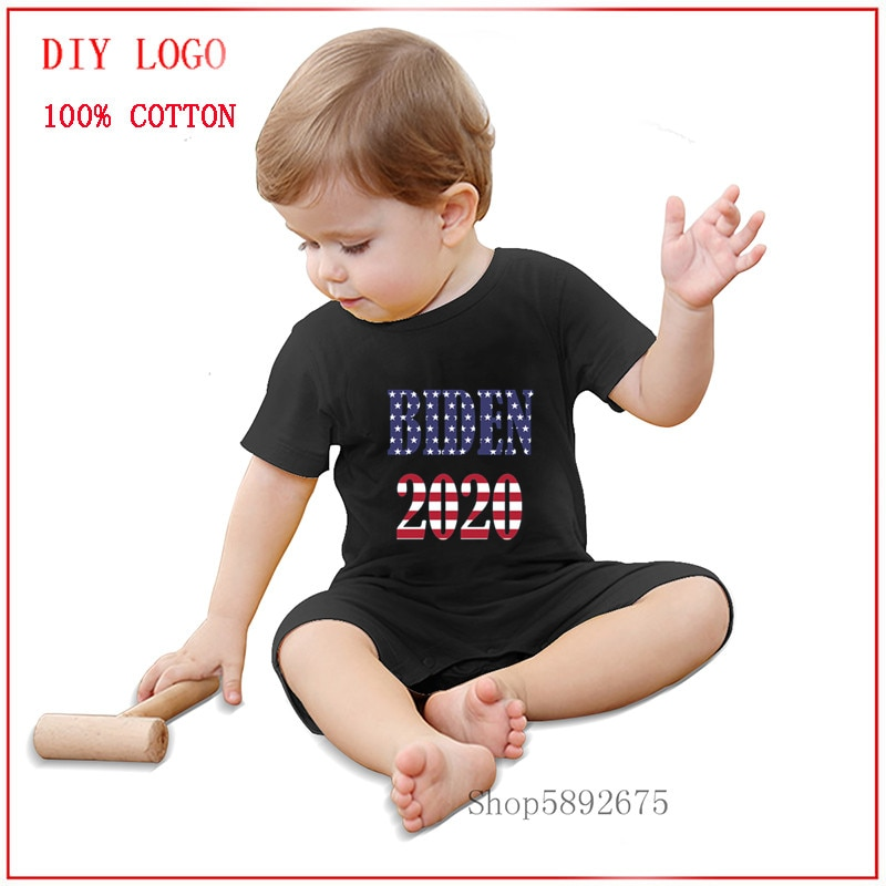 Biden 2020 USA Presidential Election T-shirt With USA flag colors T-Shirt baby clothes romper Summer