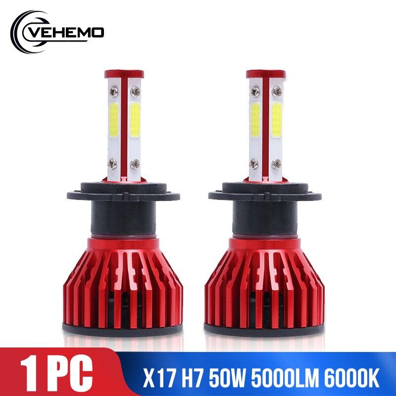 Lámpara frontal KINGSOFE H7 50W LED luz antiniebla DOB 9005/HB3/H10 bombillas de alta potencia faro de coche bombilla led Kit de conversión