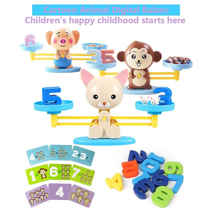 Monkey Balance Toys Scale Toy Kids Educational Toys Monkey Early Learning Balance Children Enlightenment Math Toys