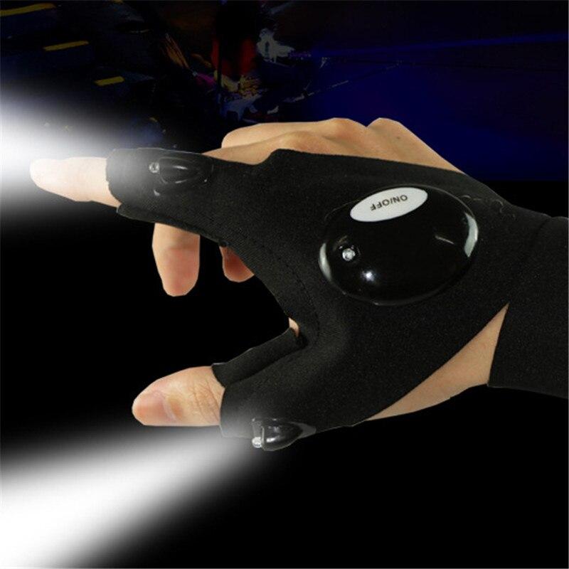 LED Light Finger Lighting Gloves Auto Repair Outdoors Flashing Artifact