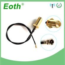 2 pièces lot 20cm rallonge UFL à SMA connecteur mâle antenne WiFi câble queue de cochon IPX à RP-SMA femelle à IPX