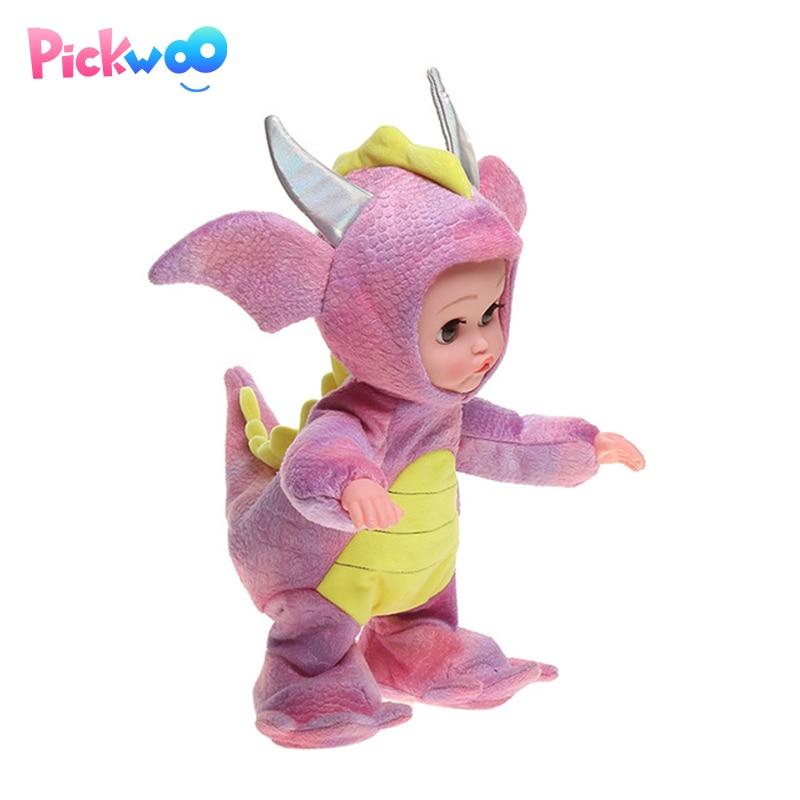 Pickwoo 35cm reborn vocal bebê boneca de pano vinil macio corpo realista reborn bonecas meninas interação boneca para o miúdo vs npk keiumi