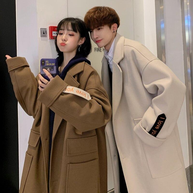 Windbreaker female Spring and Autumn 2021 New Korean Woolen Coat Women's Medium and Long Woolen Coat