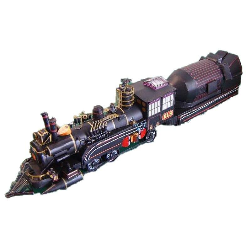 Volta Para O Futuro do Médico de Trem Modelo de Papel DIY Papercraft DIY Montar o Trabalho de Mão Jogo de Puzzle Brinquedo Educativo DIY modelo filme