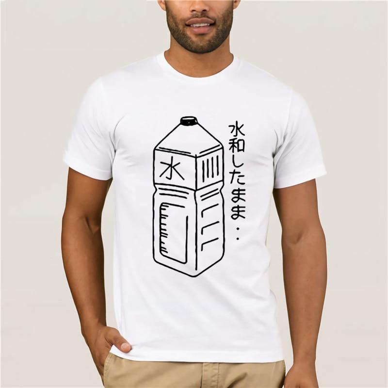 Tumblr mujer ropa verano Tops imprimir camiseta Harajuku japonés botella de agua gráfico s negro