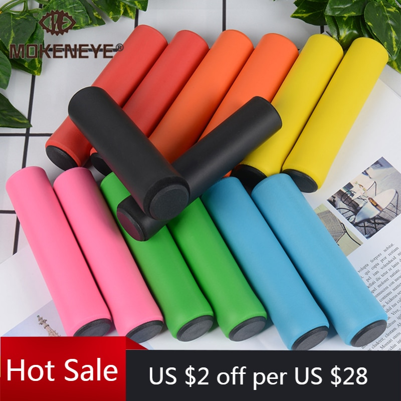 1Pair Cycling Bicycle Grips Outdoor MTB Mountain Bike Handlebar Grips Cover Anti-slip Strong Support Grips Bike Part