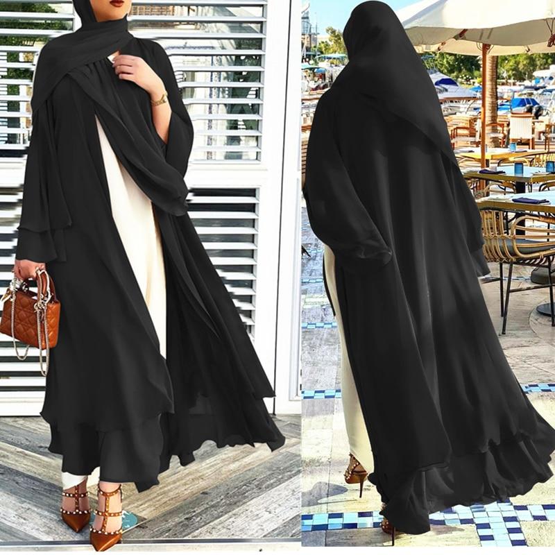 Eid Ramadán hiyab musulmán de moda vestido Kaftan Dubai Kimomo Abaya para...