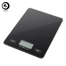 DIGOO DG-TGK1 Digital Toughened Glass Scale 1g/5kg Food Scale Ultra Slim Tempered Glass LCD Display