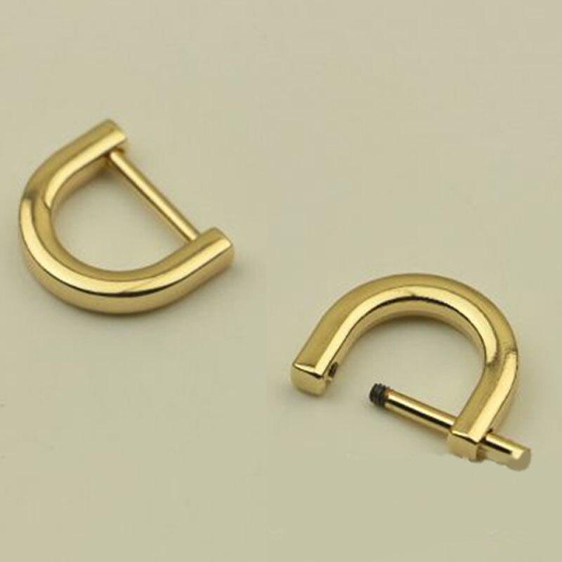 De Metal desmontable de cierre con rosca abierta para correa de bolso, correa de cinturón, hebilla de anillo D para artesanía de cuero, correas de hombro Fermoir sac 1,2/1,5 CM 1 pieza