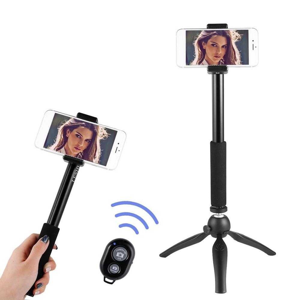 Tabletop Selfie Stick Monopod with Remote & Tripod Stand for iPhone and Android, iPad, Cell Phone Tablets
