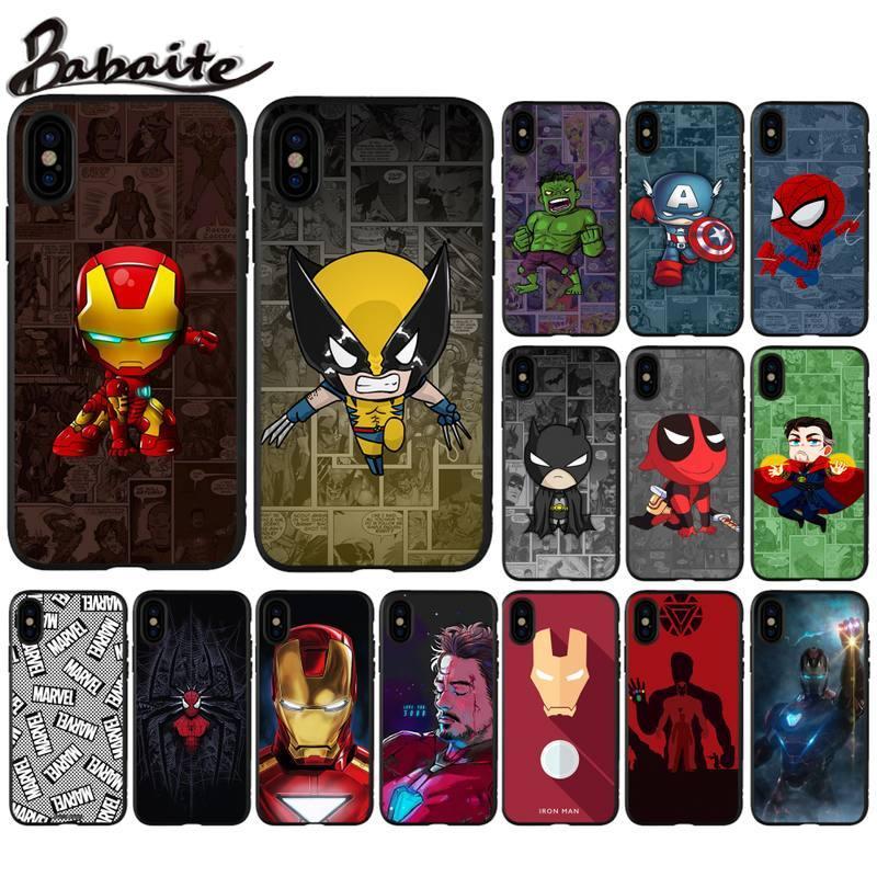 Babaite Marvel hero Iron Man funda de teléfono para huawei p8 p9 p10 p20 lite plus pro accesorios para teléfono móvil