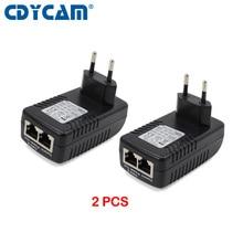2PCS Iniettore POE 48V 0.5A Adattatore di Alimentazione POE Iniettore Per Telecamera di Sorveglianza IP 802.3af UE/USA //AU/UK Spina